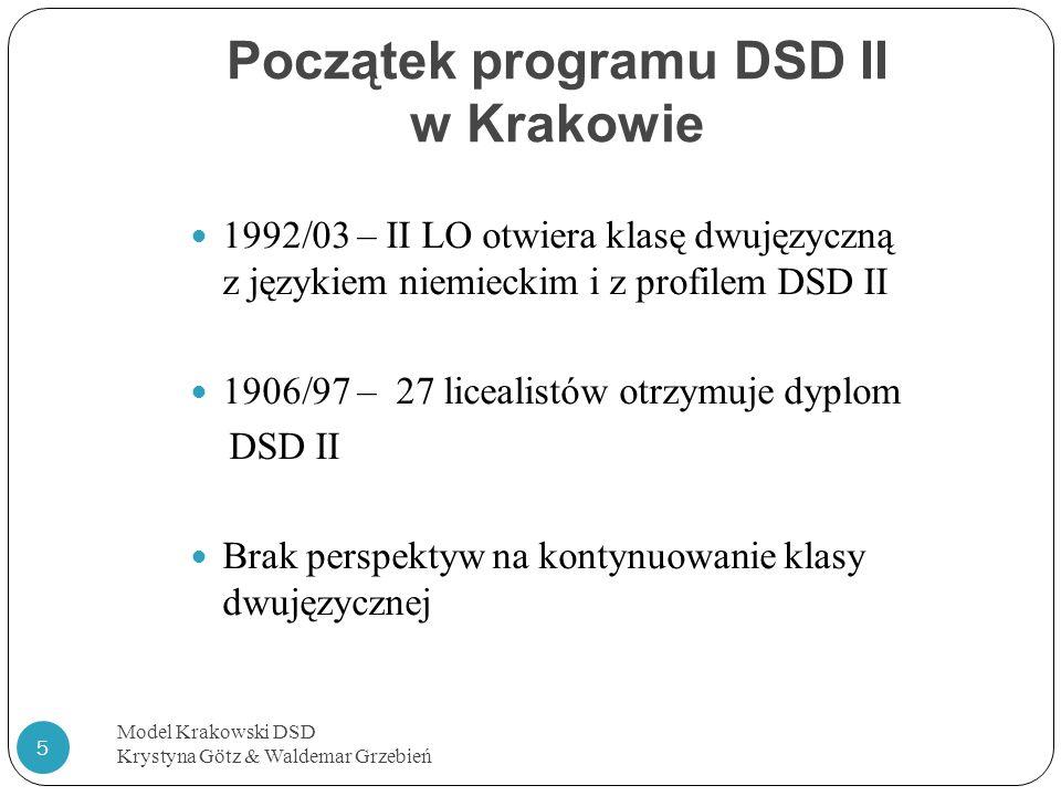 Początek programu DSD II w Krakowie
