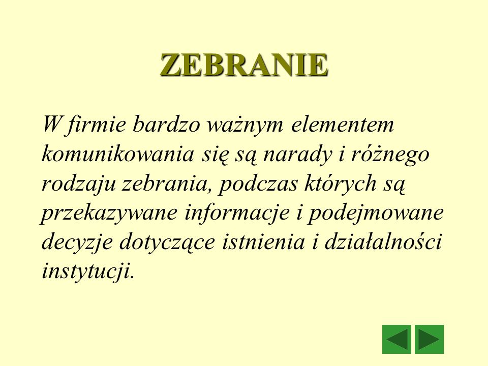 ZEBRANIE
