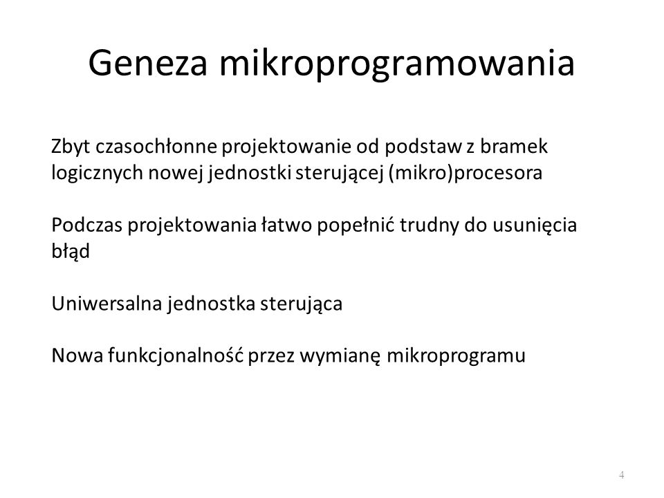 Geneza mikroprogramowania