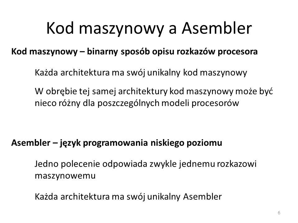 Kod maszynowy a Asembler