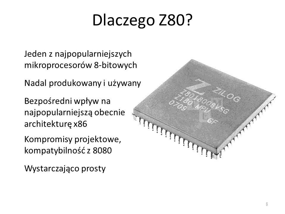 Dlaczego Z80 Jeden z najpopularniejszych mikroprocesorów 8-bitowych