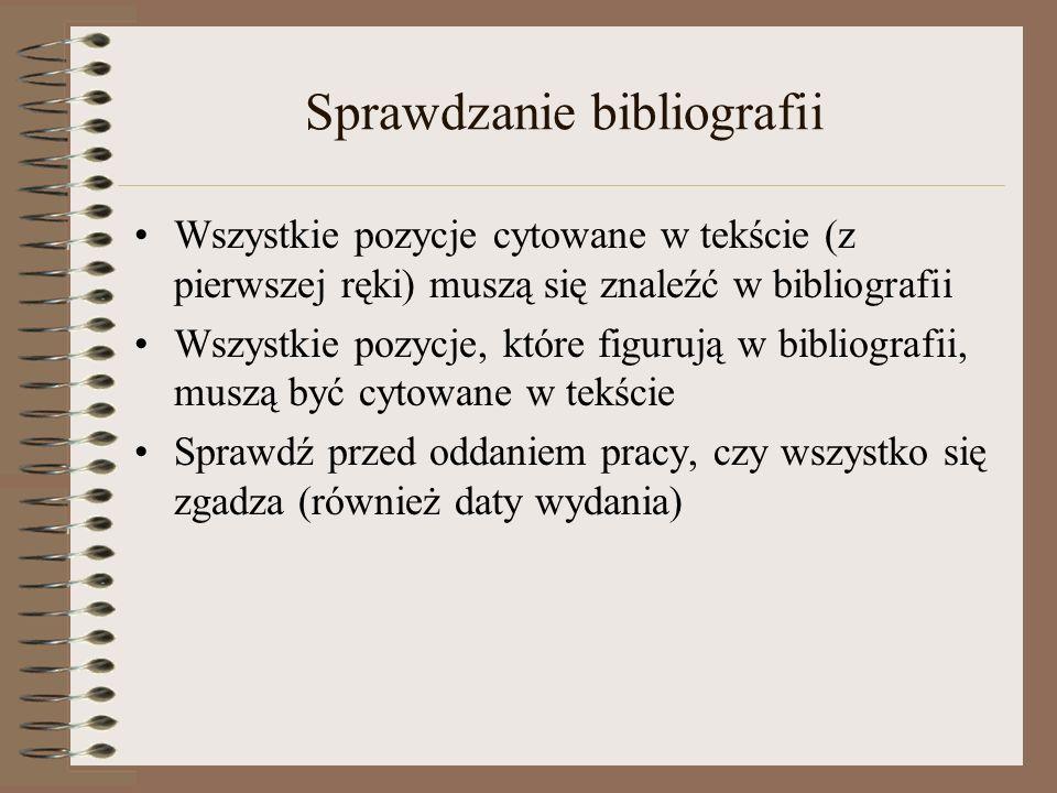 Sprawdzanie bibliografii