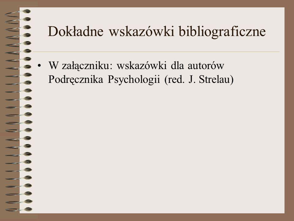Dokładne wskazówki bibliograficzne