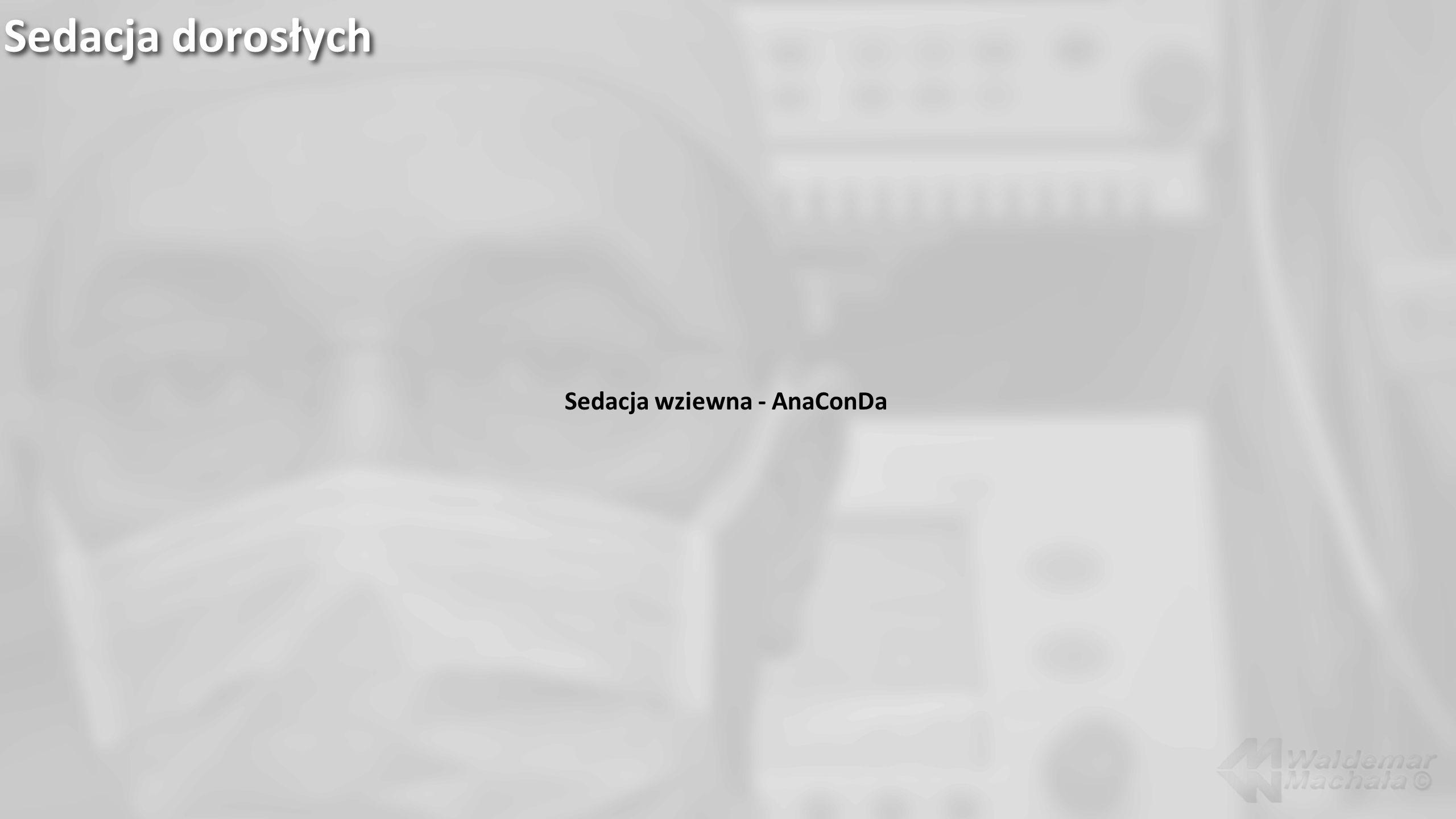 Sedacja wziewna - AnaConDa