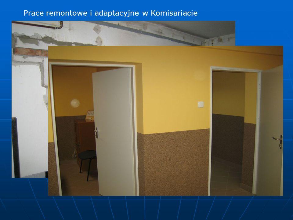 Prace remontowe i adaptacyjne w Komisariacie