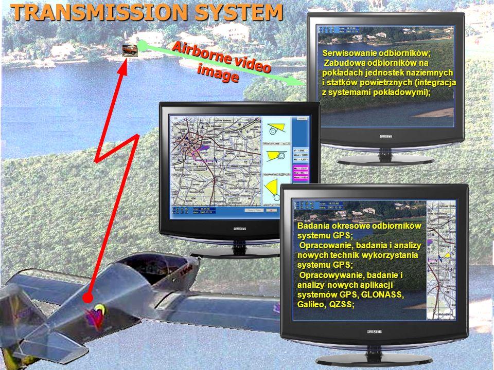 TRANSMISSION SYSTEM Airborne video image Serwisowanie odbiorników;