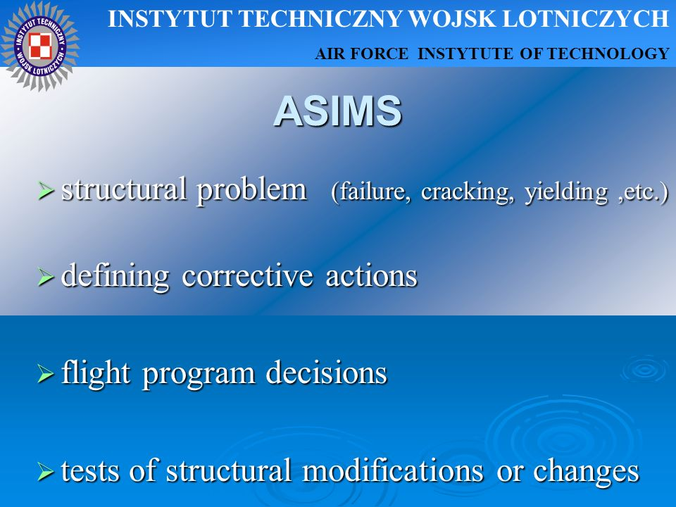 ASIMS structural problem (failure, cracking, yielding ,etc.)