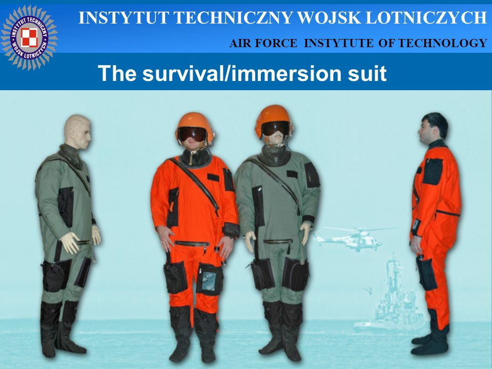The survival/immersion suit