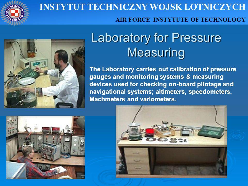 Laboratory for Pressure Measuring