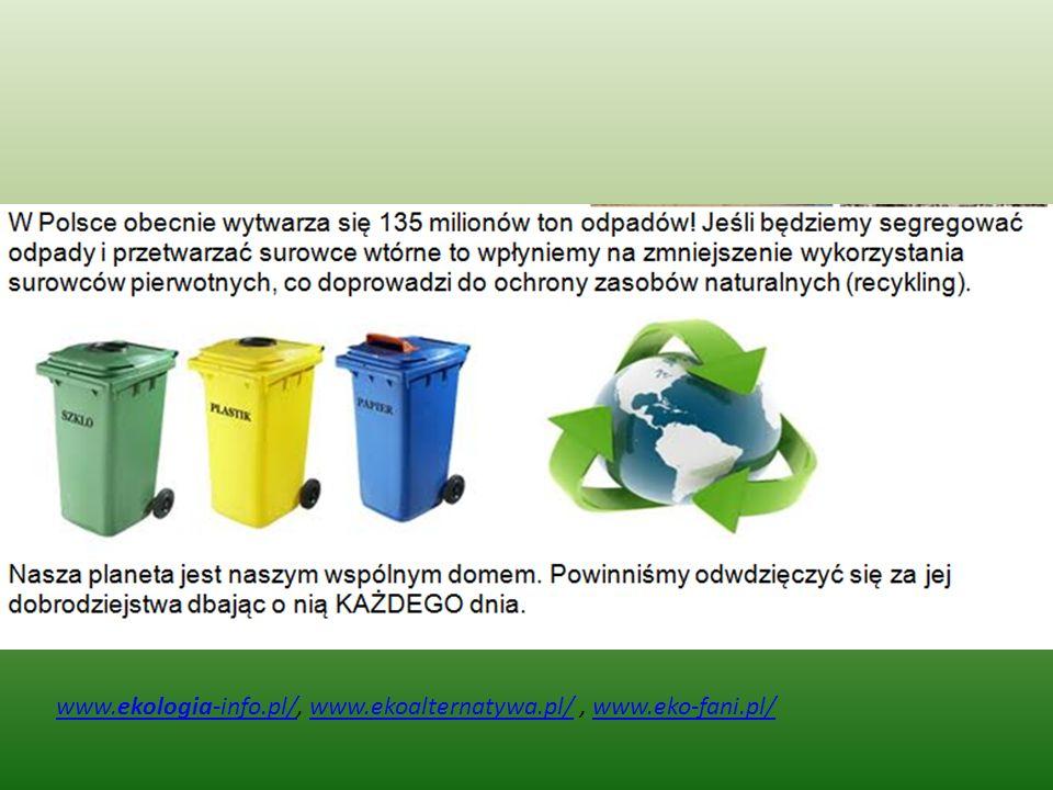 www.ekologia-info.pl/, www.ekoalternatywa.pl/ , www.eko-fani.pl/