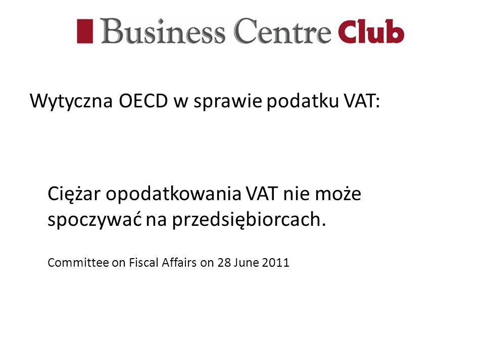 Wytyczna OECD w sprawie podatku VAT: