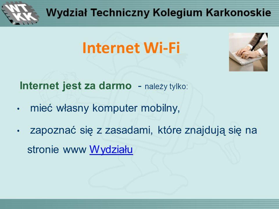Internet Wi-Fi Internet jest za darmo - należy tylko: