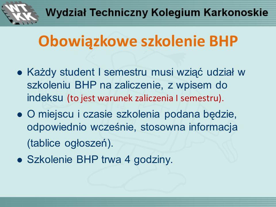 Obowiązkowe szkolenie BHP