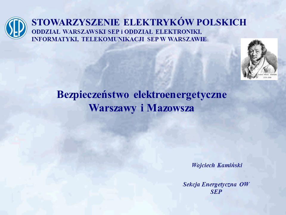 Bezpieczeństwo elektroenergetyczne Warszawy i Mazowsza