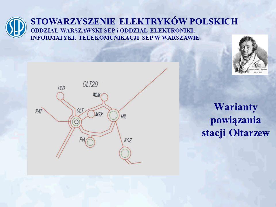 Warianty powiązania stacji Ołtarzew