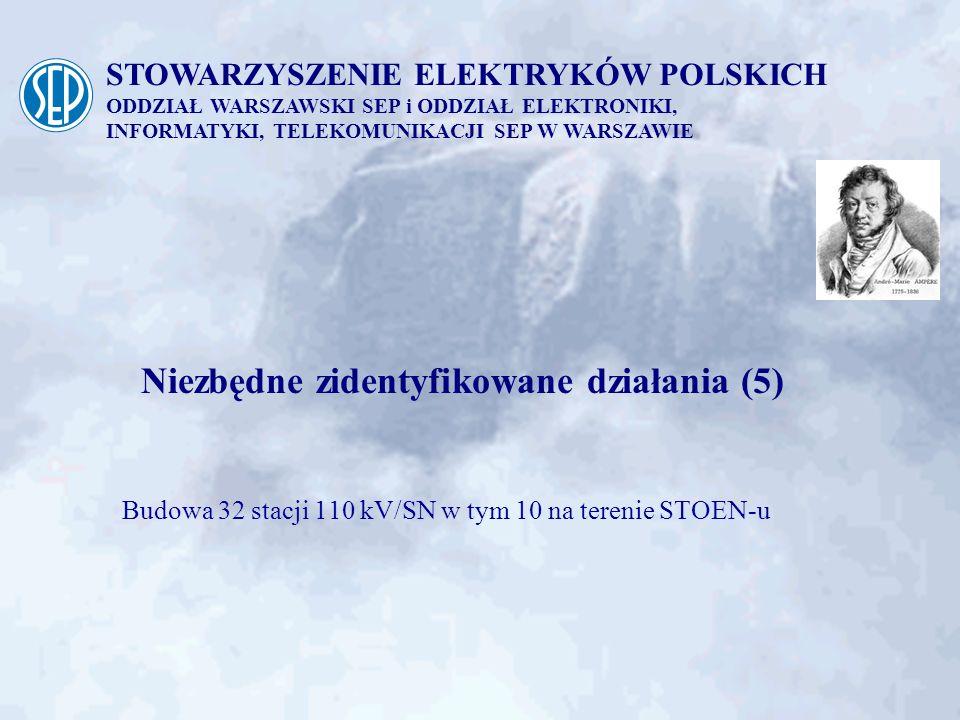 Budowa 32 stacji 110 kV/SN w tym 10 na terenie STOEN-u