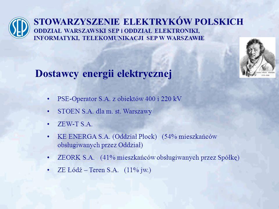 Dostawcy energii elektrycznej