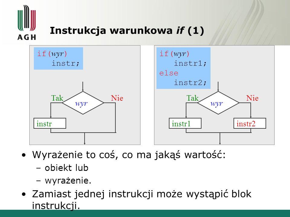 Instrukcja warunkowa if (1)