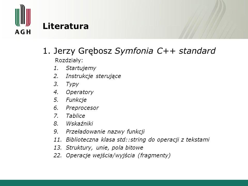 1. Jerzy Grębosz Symfonia C++ standard