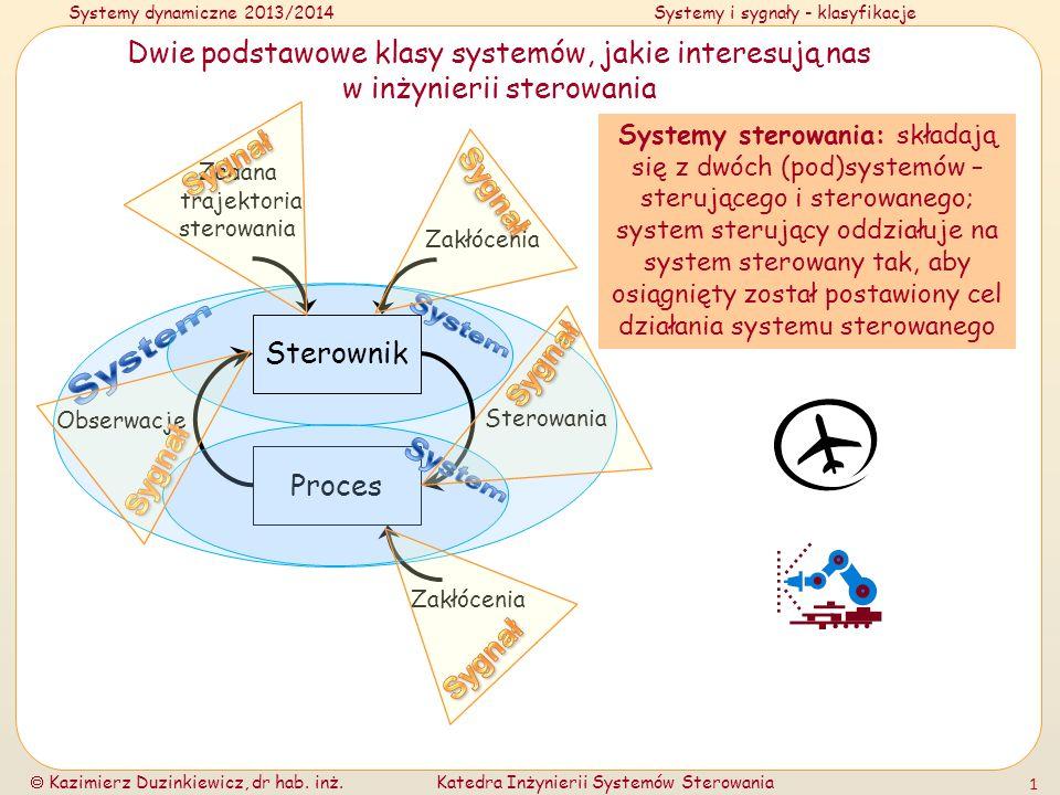 Dwie podstawowe klasy systemów, jakie interesują nas