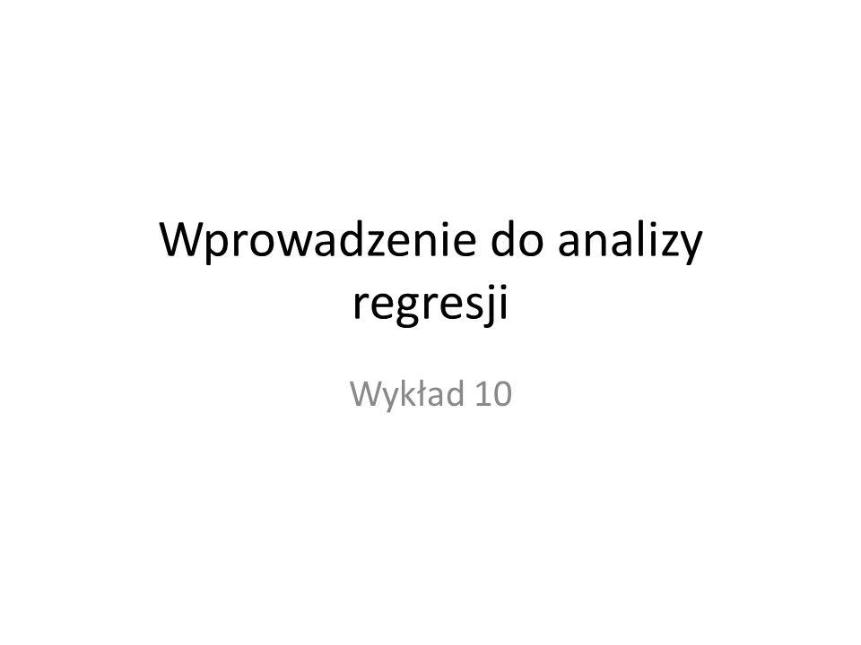 Wprowadzenie do analizy regresji