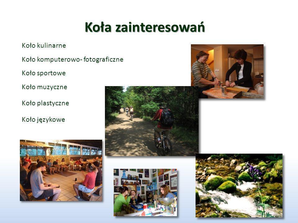 Koła zainteresowań Koło kulinarne Koło komputerowo- fotograficzne
