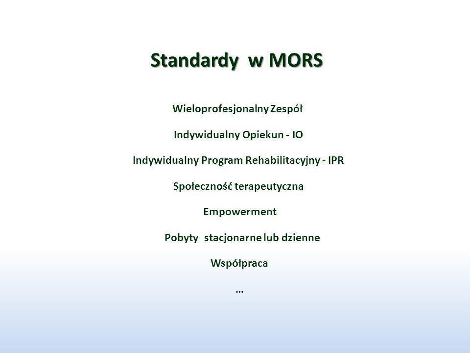 Standardy w MORS Wieloprofesjonalny Zespół Indywidualny Opiekun - IO