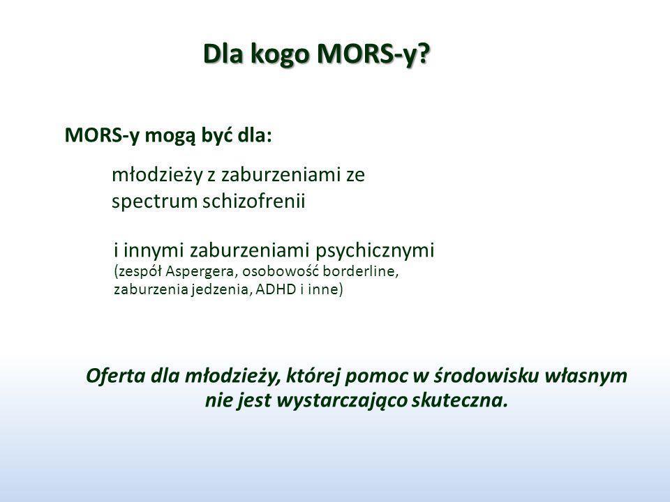 Dla kogo MORS-y MORS-y mogą być dla: