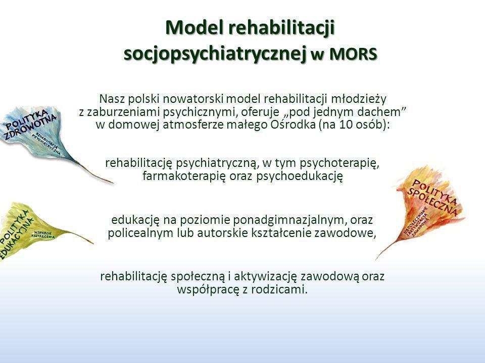 Model rehabilitacji socjopsychiatrycznej w MORS