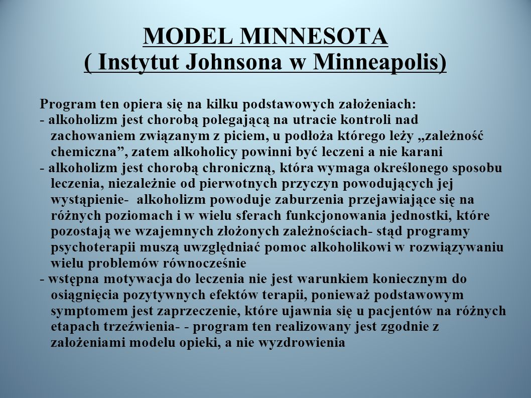 MODEL MINNESOTA ( Instytut Johnsona w Minneapolis)