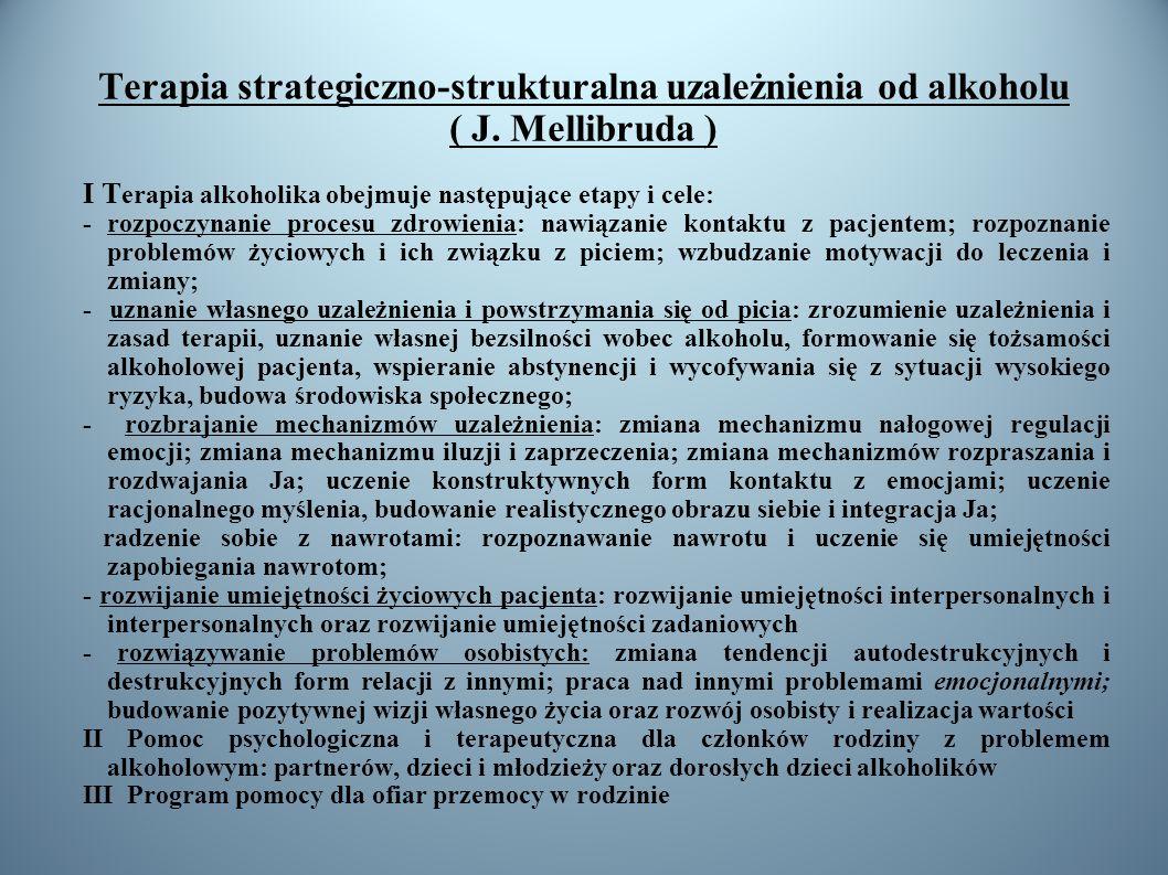 Terapia strategiczno-strukturalna uzależnienia od alkoholu ( J