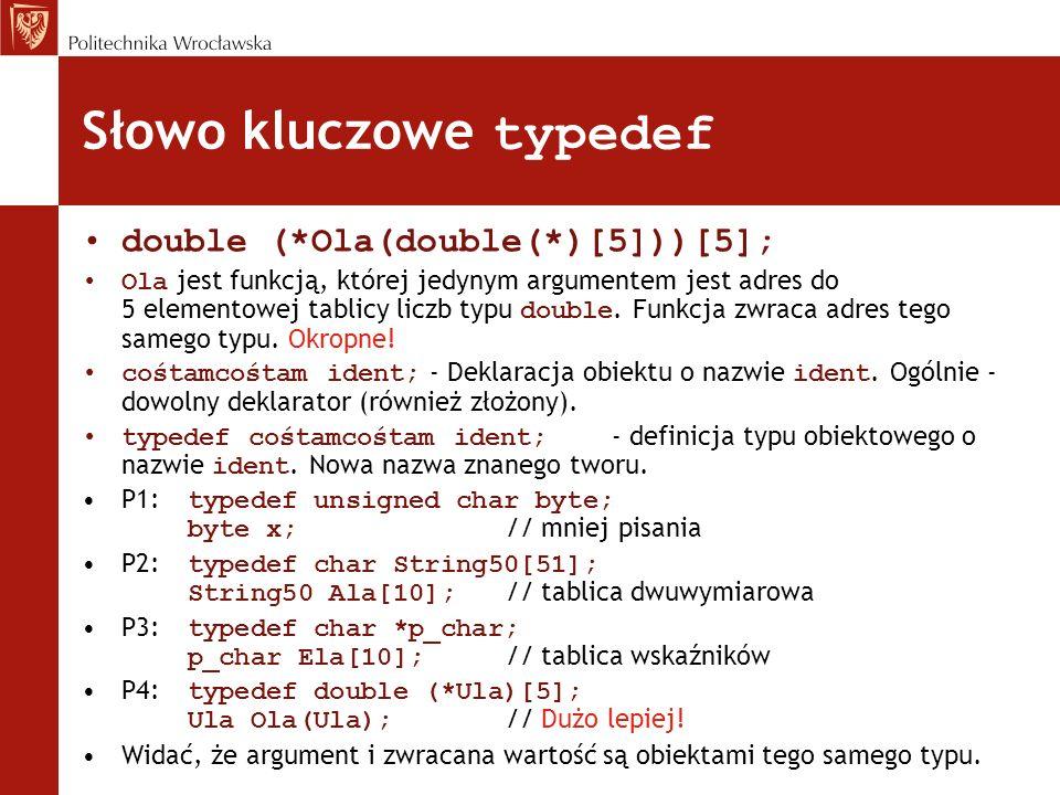 Słowo kluczowe typedef