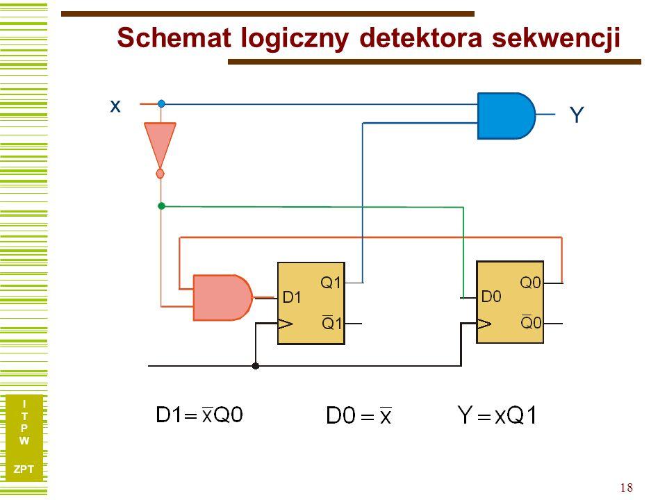 Schemat logiczny detektora sekwencji