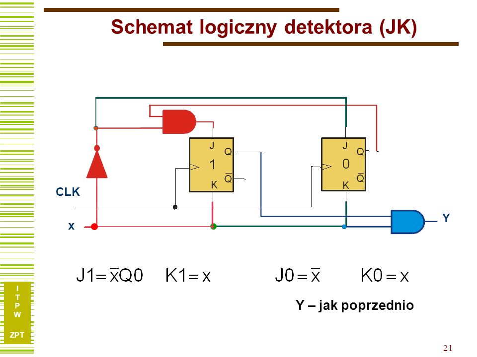 Schemat logiczny detektora (JK)