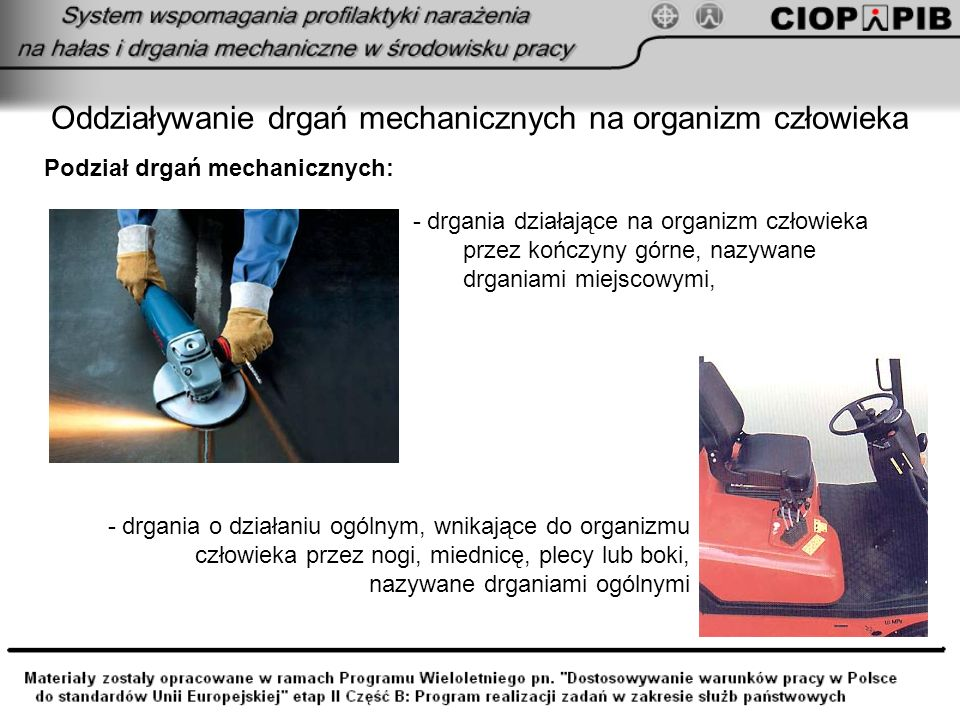 Oddziaływanie drgań mechanicznych na organizm człowieka