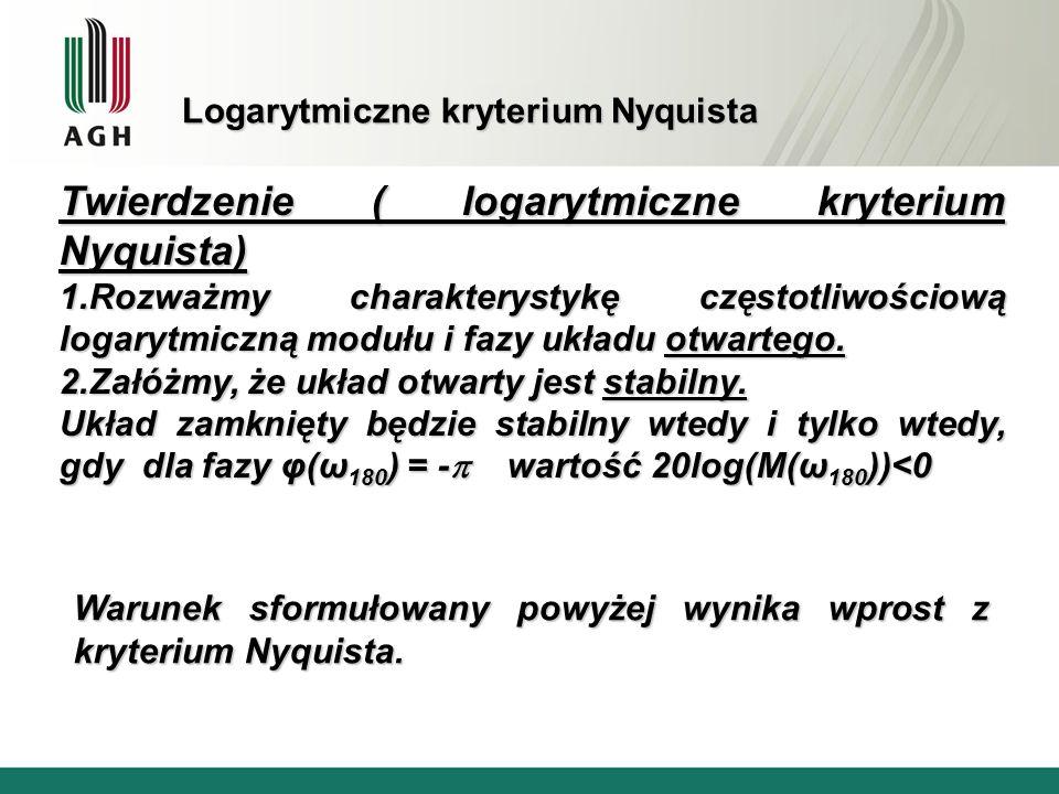 Logarytmiczne kryterium Nyquista