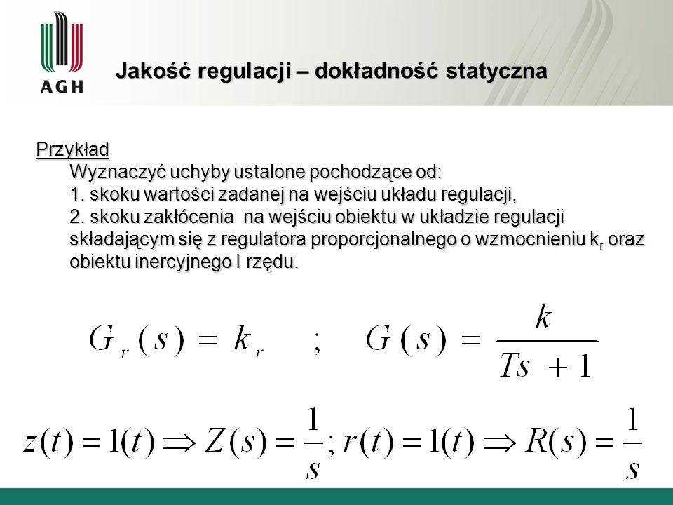 Jakość regulacji – dokładność statyczna