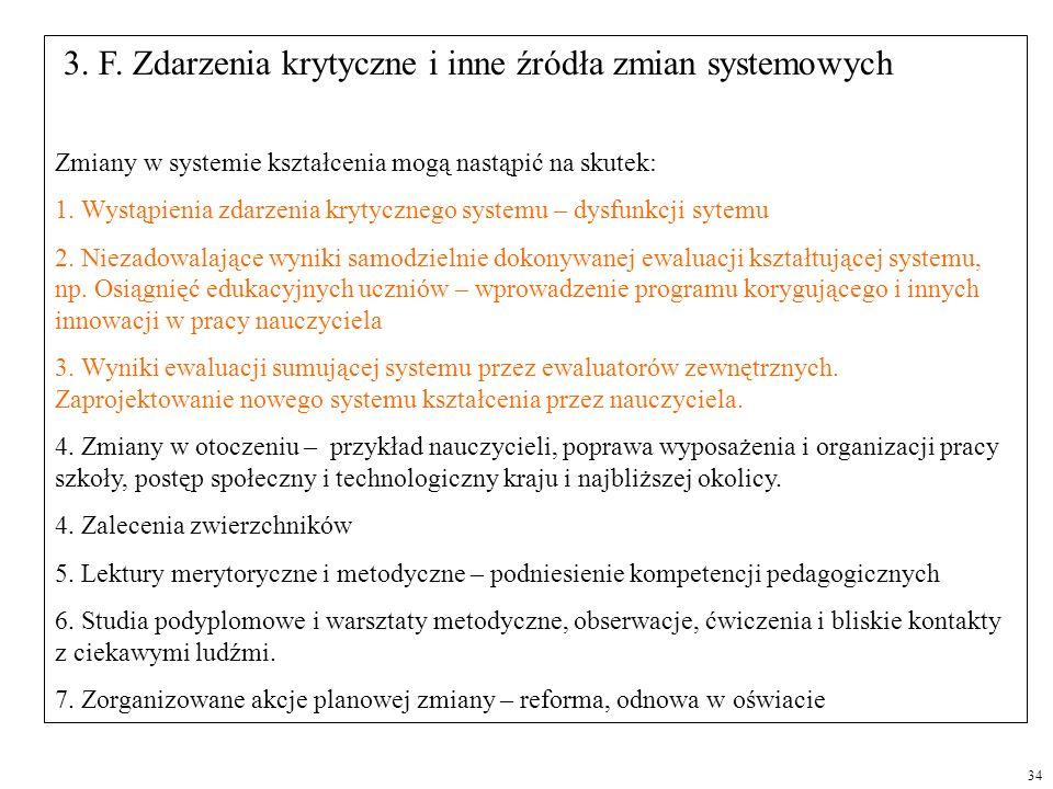 3. F. Zdarzenia krytyczne i inne źródła zmian systemowych