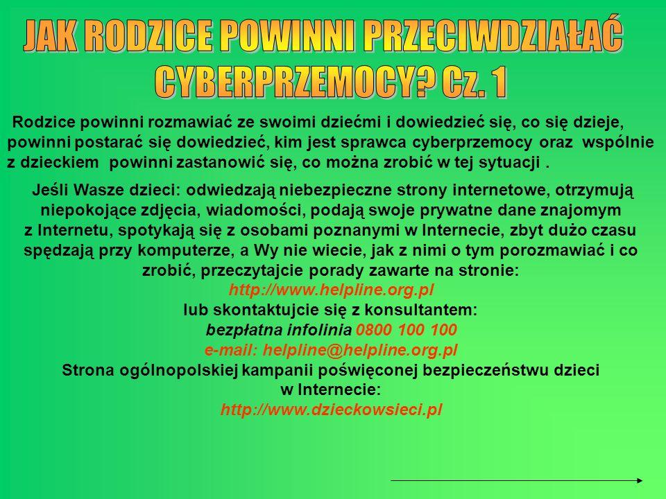 lub skontaktujcie się z konsultantem: e-mail: helpline@helpline.org.pl