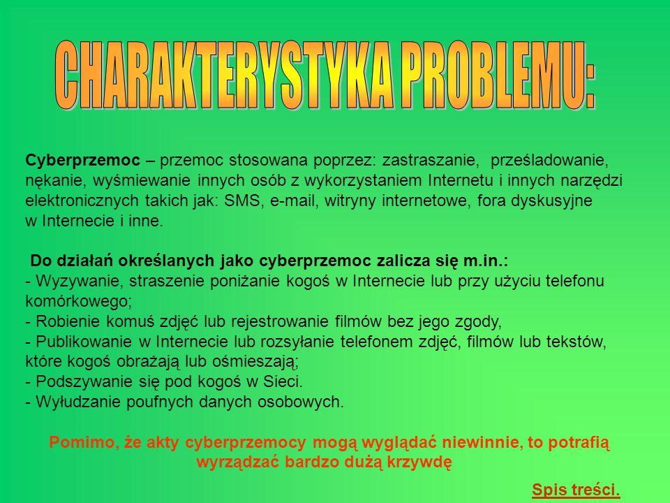 CHARAKTERYSTYKA PROBLEMU: