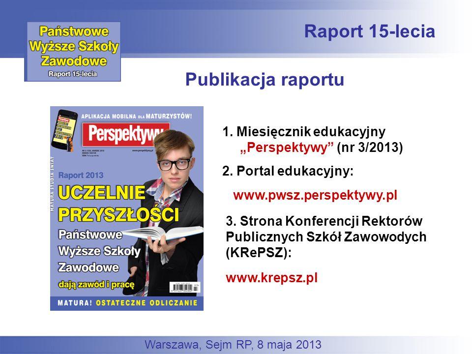 Raport 15-lecia Publikacja raportu