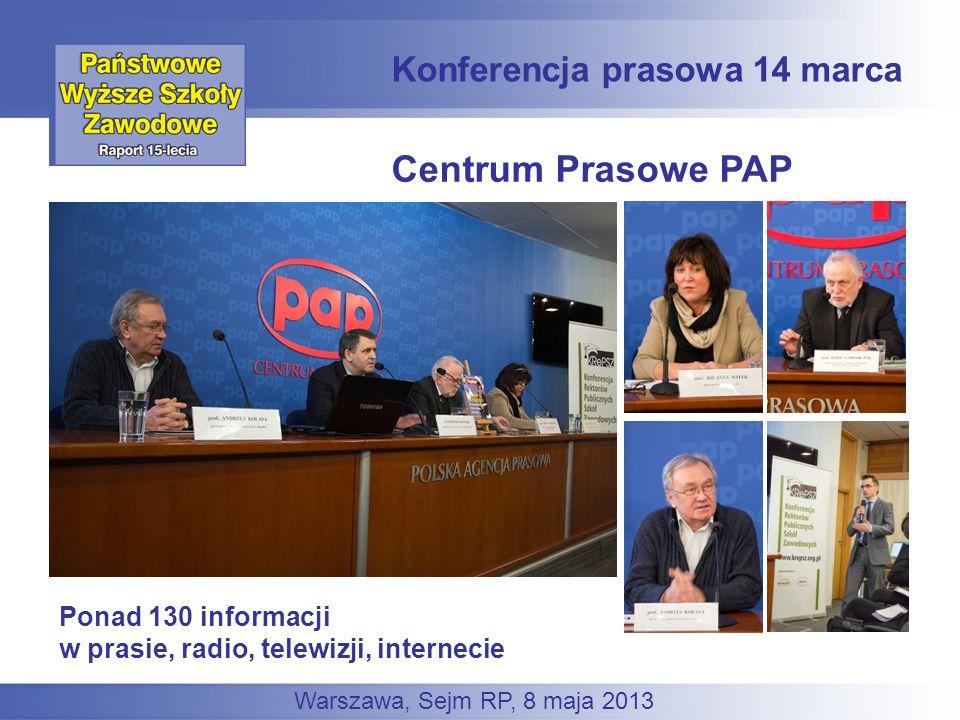 Centrum Prasowe PAP Konferencja prasowa 14 marca