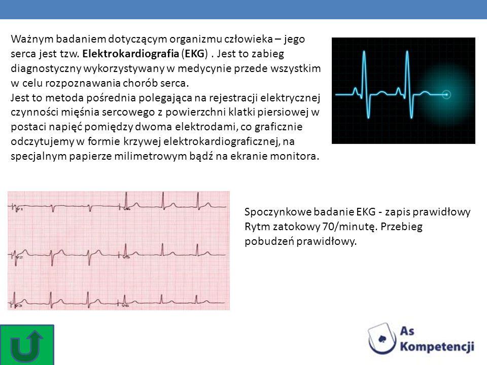 Ważnym badaniem dotyczącym organizmu człowieka – jego serca jest tzw