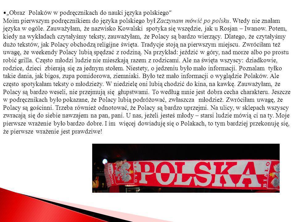 """""""Obraz Polaków w podręcznikach do nauki języka polskiego"""