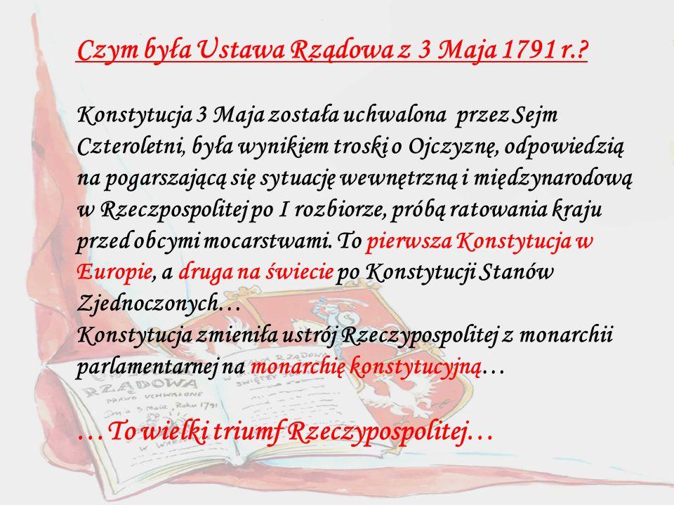 Czym była Ustawa Rządowa z 3 Maja 1791 r.