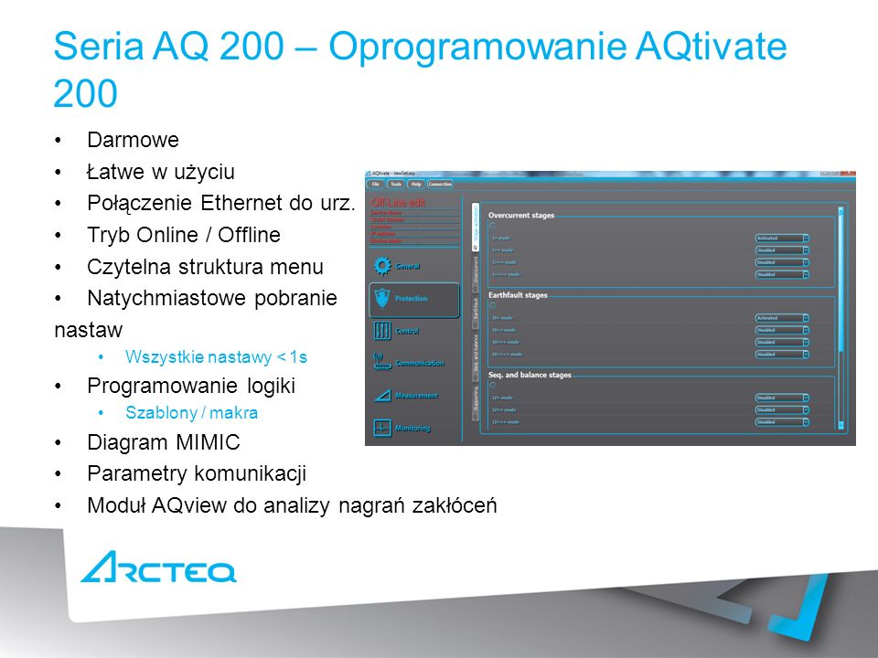Seria AQ 200 – Oprogramowanie AQtivate 200
