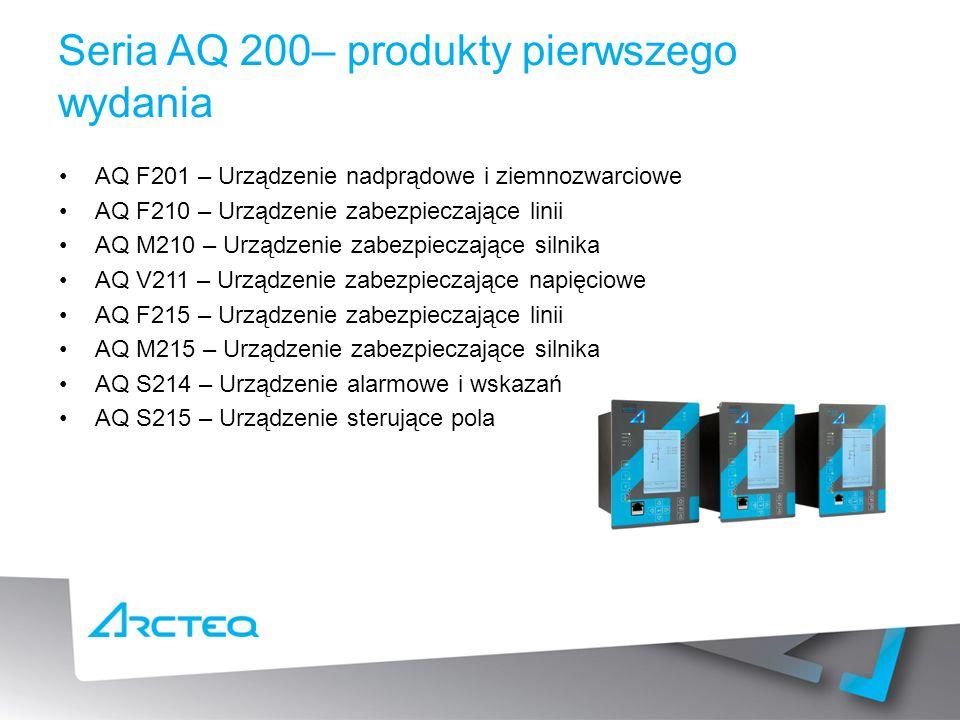 Seria AQ 200– produkty pierwszego wydania