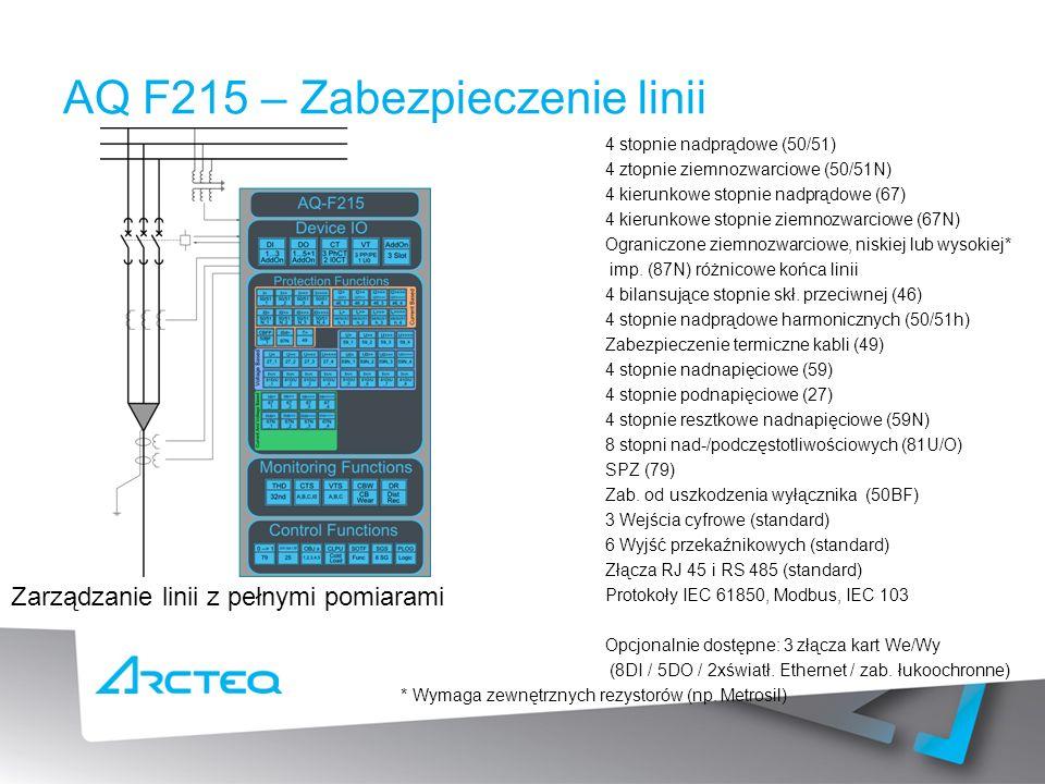 AQ F215 – Zabezpieczenie linii
