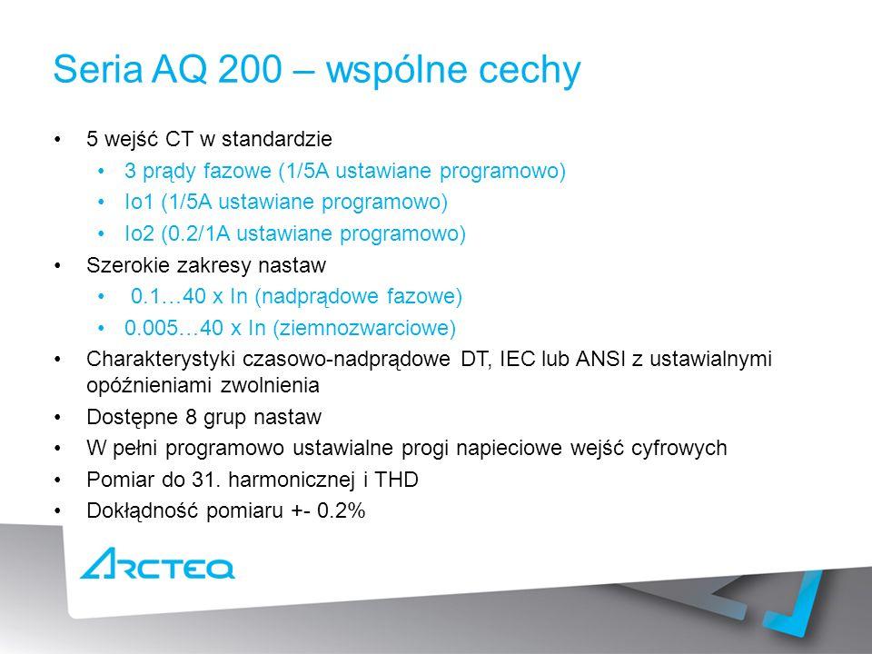 Seria AQ 200 – wspólne cechy