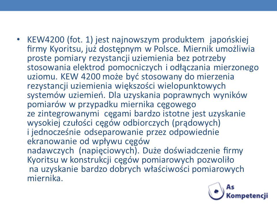 KEW4200 (fot. 1) jest najnowszym produktem japońskiej firmy Kyoritsu, już dostępnym w Polsce.